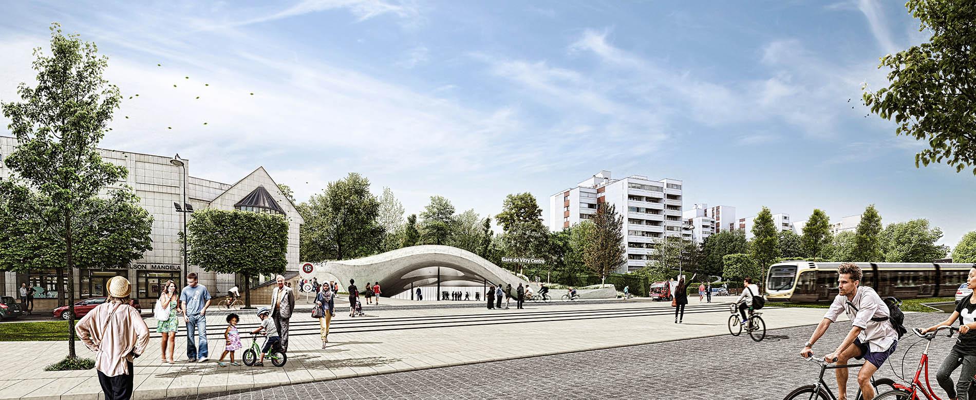 Parc du Coteau, Gare Ligne 15